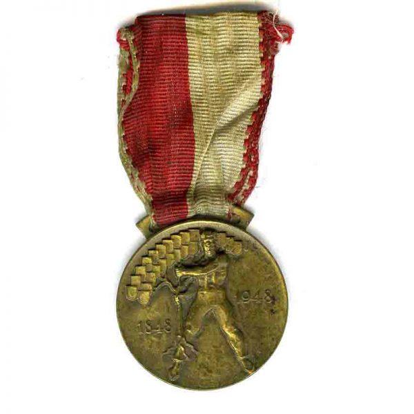 Confederation of Switzerland Centenary medal 1948(L6197)  V.F. £45 1