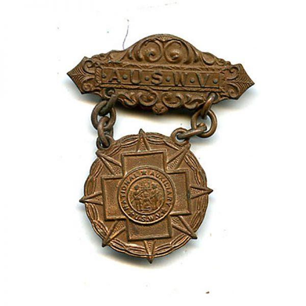 Spanish War Auxiliary U.S Womens Volunteers badge bronze (L6752)  G.V.F.  £40 1