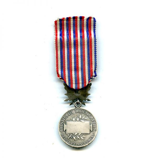 Posts and Telegraphs Medal of Merit silver unnamed(L9989)  G.V.F. £65 2