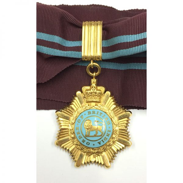 Order of British India , O.B.I., First Class Neck Badge all gold 1