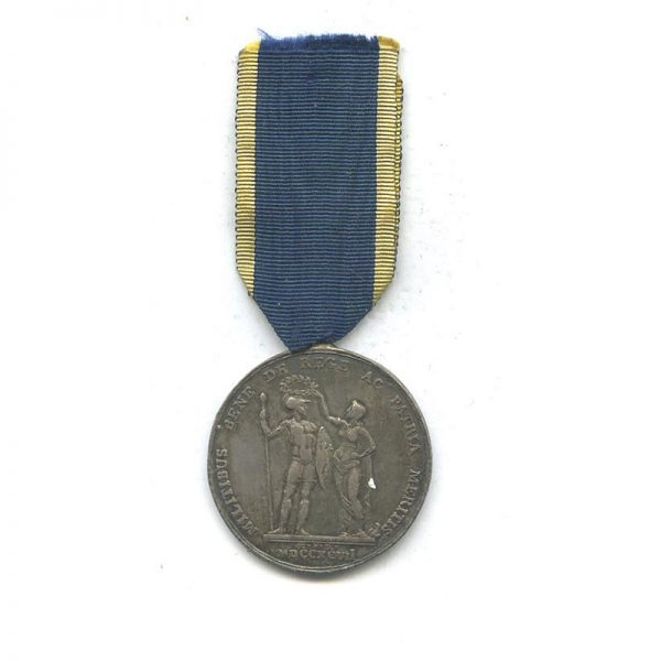 Sicily  Medal of Merit for the Neapolitan Troops defending the Papacy  1797... 2