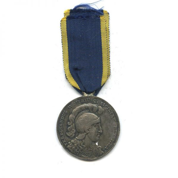 Sicily  Medal of Merit for the Neapolitan Troops defending the Papacy  1797... 1