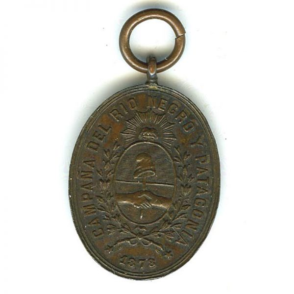 Rio Negro and Patagonia Campaign medal 1878-81 bronze (n.r.) (L16575)  G.V.F. £120 1