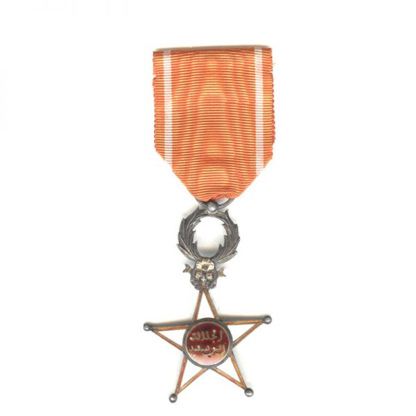 Order of Ouissam Alaouit Knight (L20458)  G.V.F. £98 1