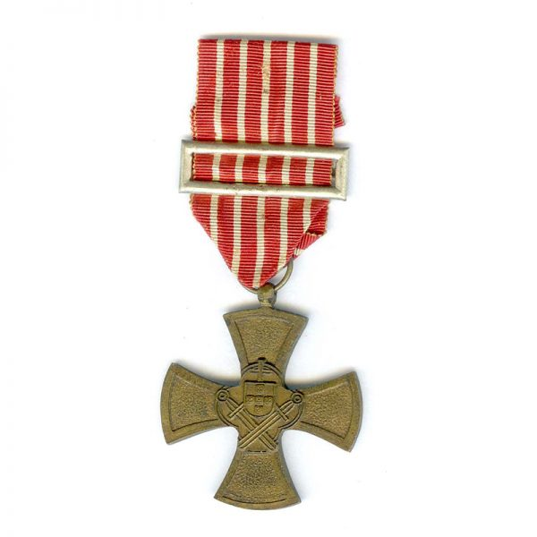 War Cross  for Volunteers in Spanish Civil War with silver ribbon buckle... 1