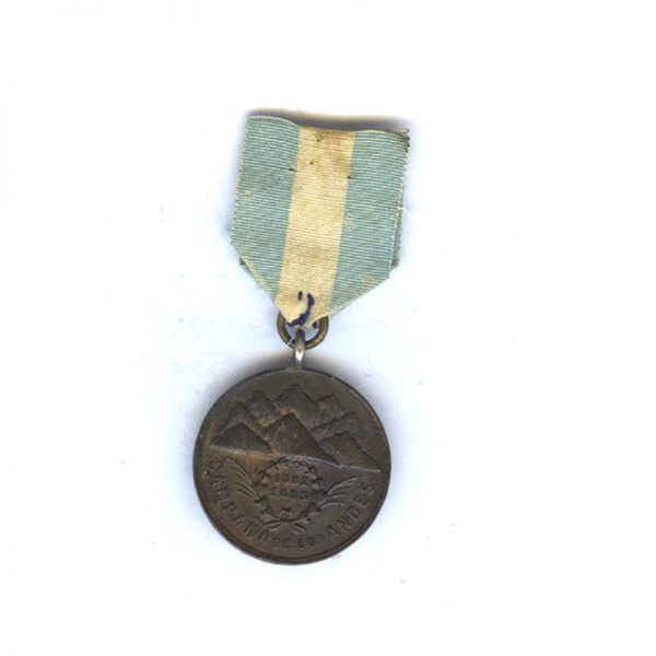Campaign de Los Andes 1882-1883 bronze with original ribbon 2
