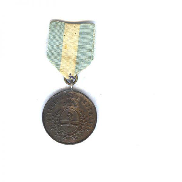 Campaign de Los Andes 1882-1883 bronze with original ribbon 1