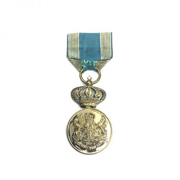 Loyal Service medal 1st type 2nd class silvered (L26210)  V.F. £30 2
