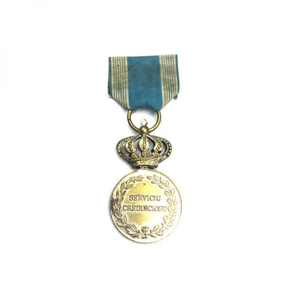 Loyal Service medal 1st type 2nd class silvered (L26210)  V.F. £30 1