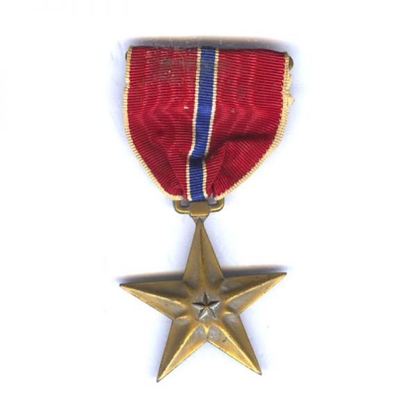 Bronze  Star  older issue with slot broach	(L27542)  N.E.F. £30 1