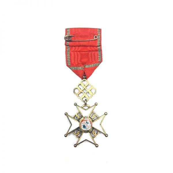 Order of the Cross of Recognition Officer  silver gilt in fitted embossed... 2