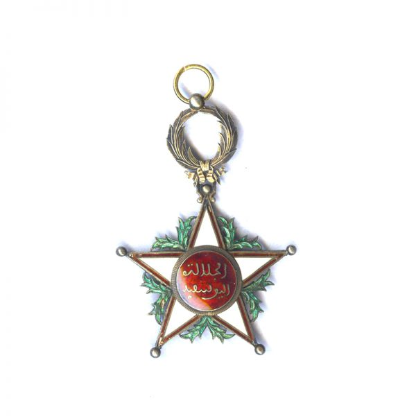 Order of Ouissam Alaouit Grand Cross sash badge a little  chipping otherwise... 1