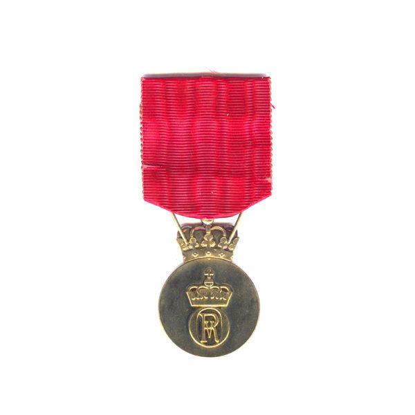 King Olav V 's Commemorative medal silver gilt 2