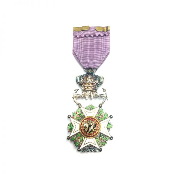 Order of Leopold French  Knight  badge Naval issue with Anchors 2