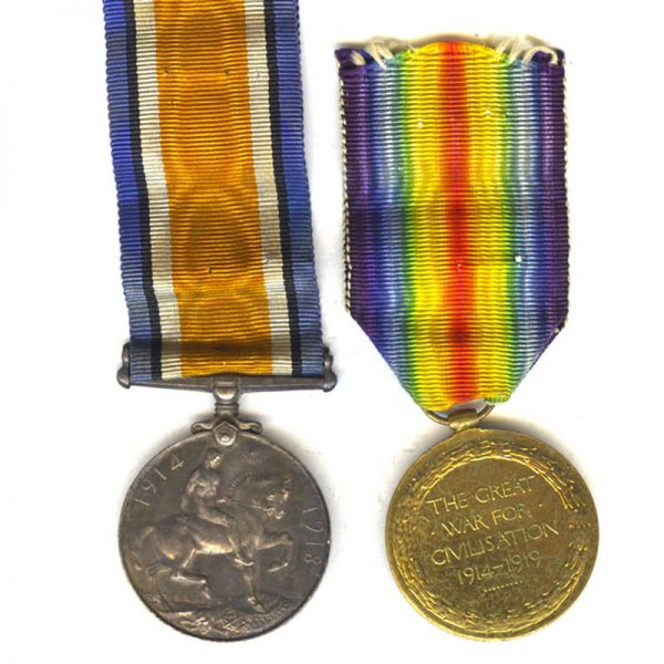 British War Medal and Victory 2
