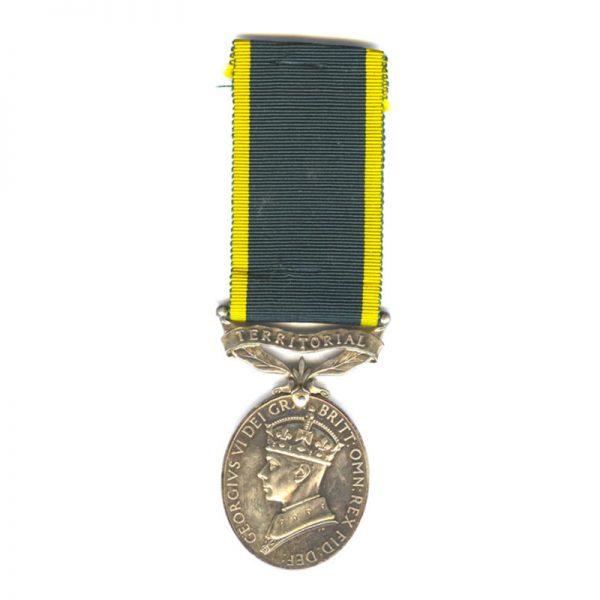Territorial Force Efficiency Medal (GVI) 1
