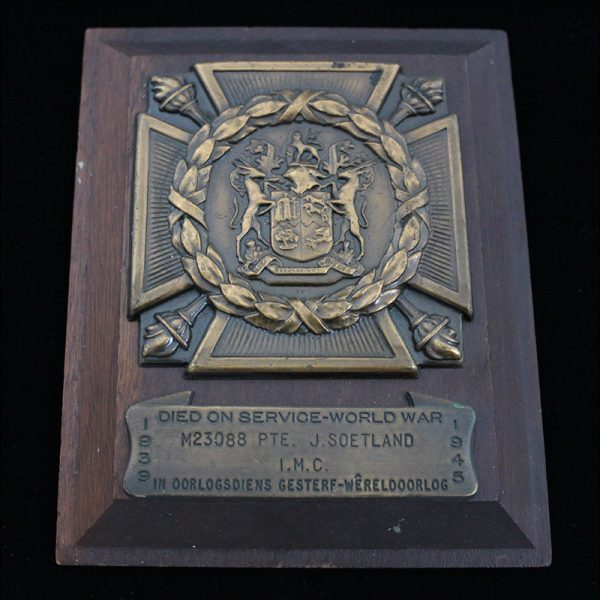 South African Official Memorial Plaque 1