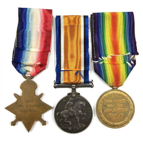 Trio Plaque Gallipoli Landings 1st Bn Lanc Fus 2