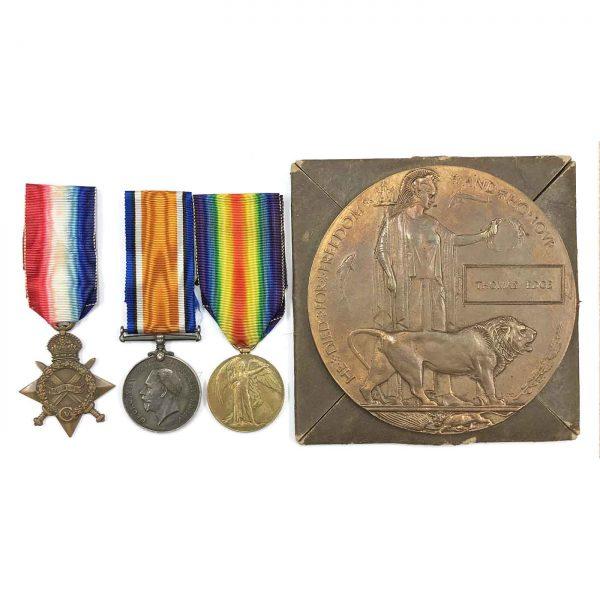 Trio Plaque Gallipoli Landings 1st Bn Lanc Fus 1