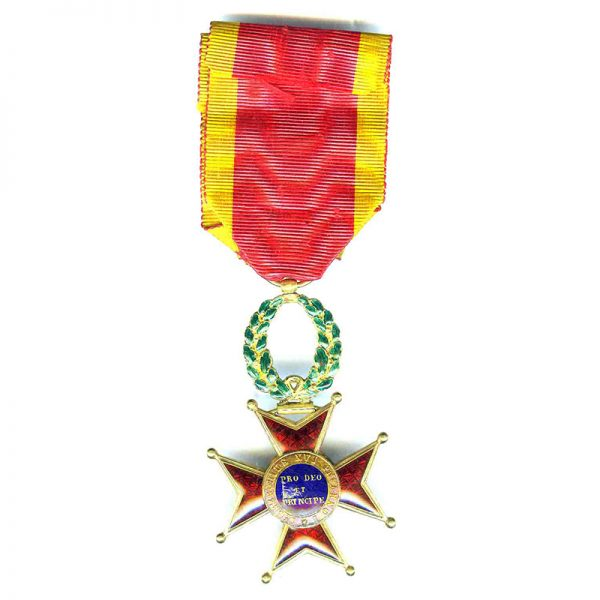 Order of  St. Gregory Officer early 1st type in gold   circa 1850 2