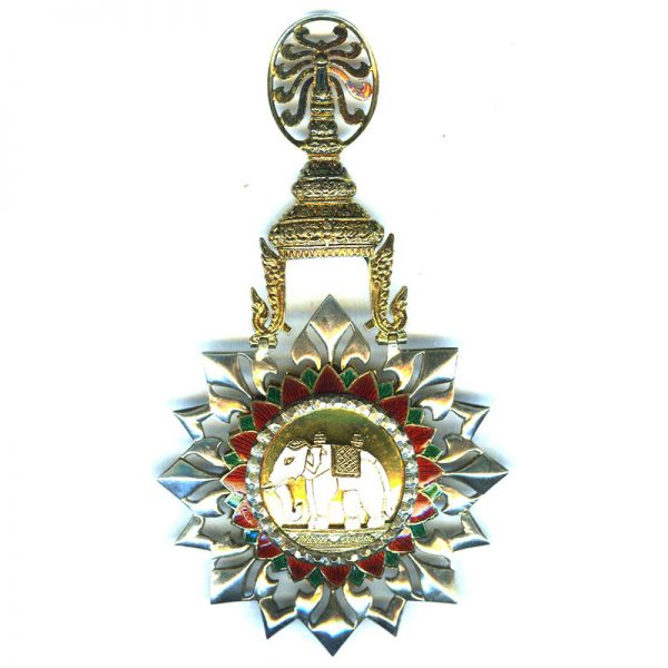 Order of the White Elephant 2nd type Grand Cross sash badge and... 1