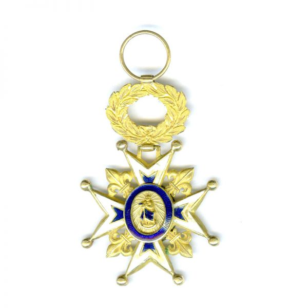 Order of Charles III Officer gold superb quality a little chipping 1