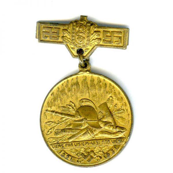 Fire Brigade Medal 1921-1931(n.r)(L20783) V.F. 1