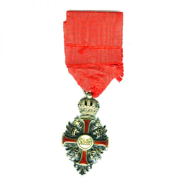 Order of Franz Joseph Knight badge in hallmarked  silver gilt 2