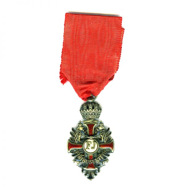 Order of Franz Joseph Knight badge in hallmarked  silver gilt 1
