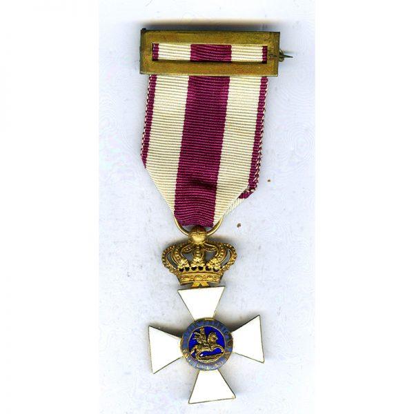 Order of St.Hermengildo Knight badge in GOLD superb early quality(L24679)  G.V.F... 1