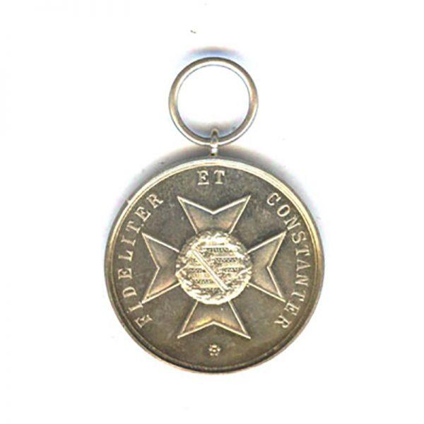 House Order of Saxe Ernestine Ernst II silver merit medal (n.r.) (L26088... 2