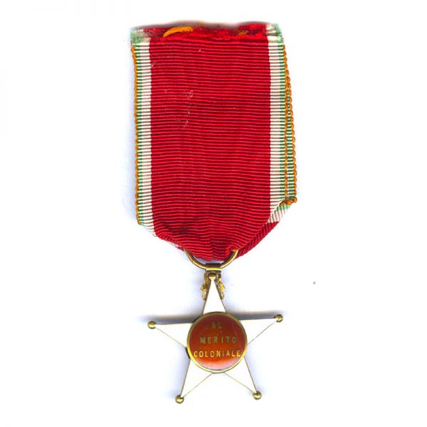 Colonial Order of the Star of Italy Officer in gold (L26596)  N.E.F... 2