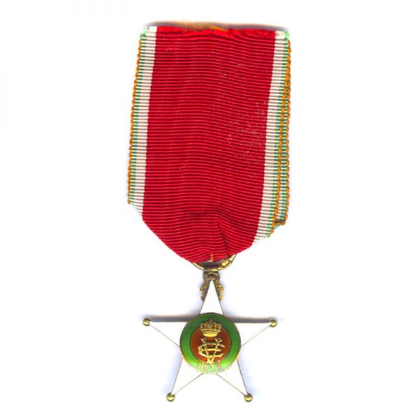 Colonial Order of the Star of Italy Officer in gold (L26596)  N.E.F... 1