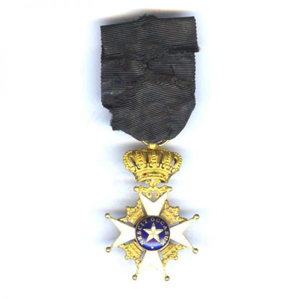 Order of the North Star breast badge officer  in gold 2