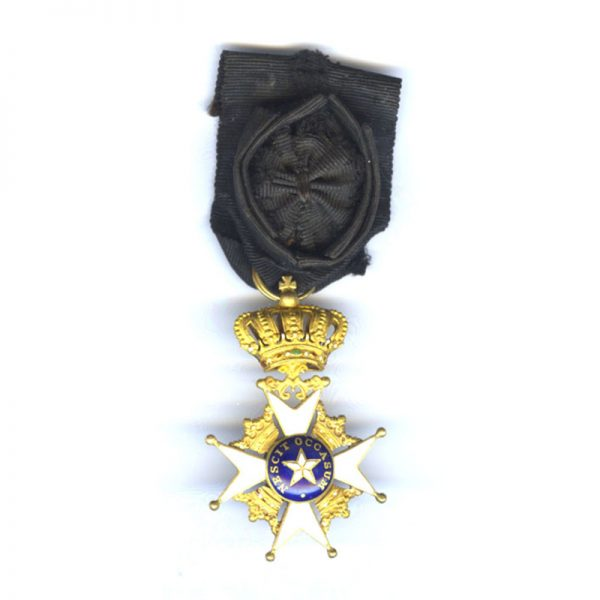Order of the North Star breast badge officer  in gold 1
