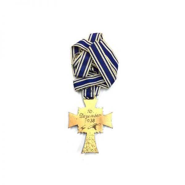 Mothers Cross Bronze with full original ribbon (L27604)  N.E.F. £55 2