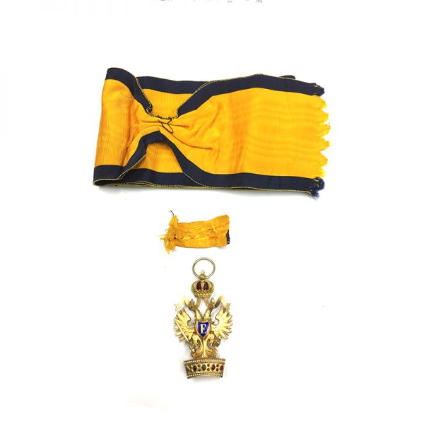 Order of the Iron Crown Grand Cross sash badge superb quality and... 2