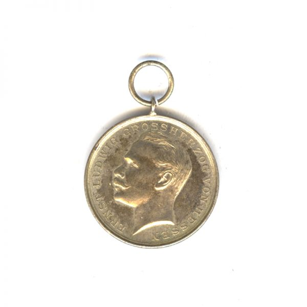 Ernst Ludwig medal for Bravery silvered (n.r.) (L27870)  N.E.F. £30 1