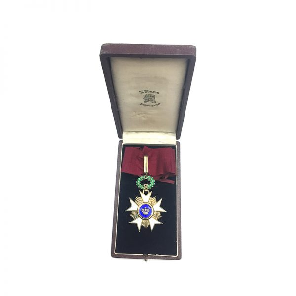 Order of the Crown  Commander good old  quality in silver gilt with... 5