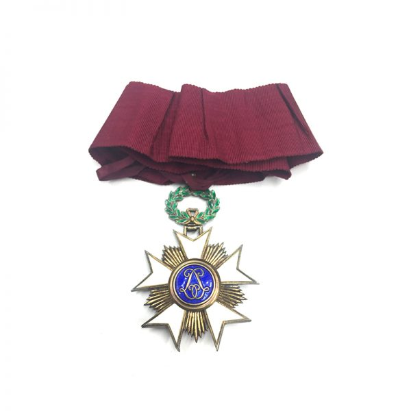 Order of the Crown  Commander good old  quality in silver gilt with... 2
