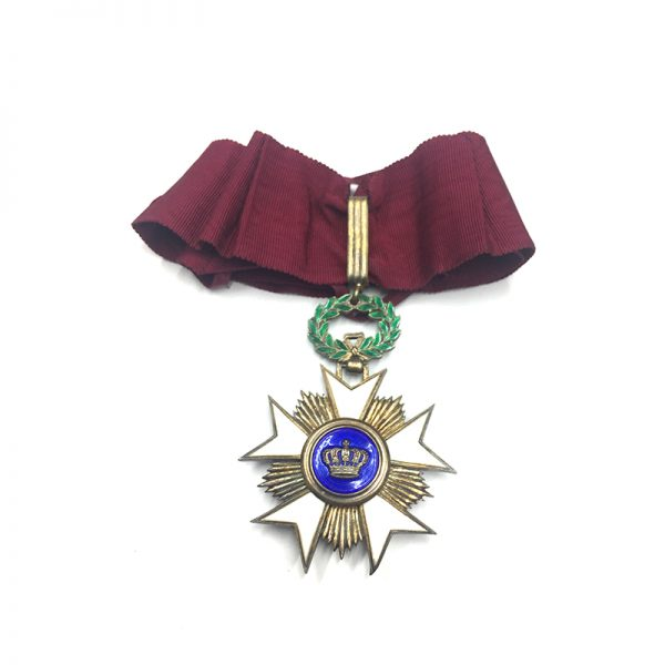 Order of the Crown  Commander good old  quality in silver gilt with... 1