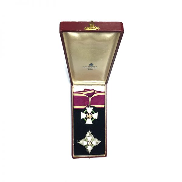 Order of the Roman Eagle Grand Officer neck badge and breast star 5