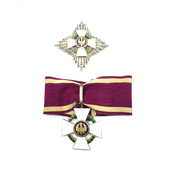 Order of the Roman Eagle Grand Officer neck badge and breast star 1