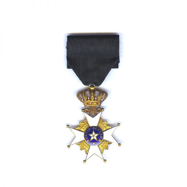 Order of the North Star Officer in Gold in  case 1