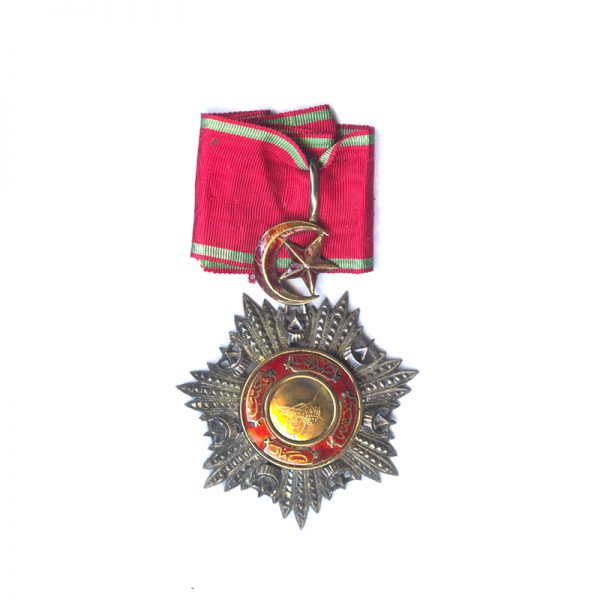 Order of the Medjidie Commander  neck badge with  all gold  centre 1