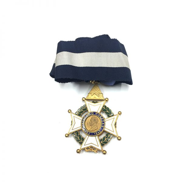Order of  Francisco Morazan Commander good quality 2