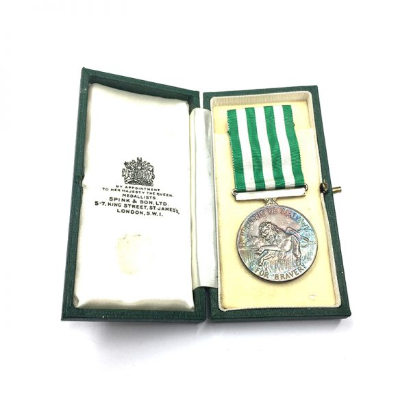 Republic Silver Bravery Medal 5