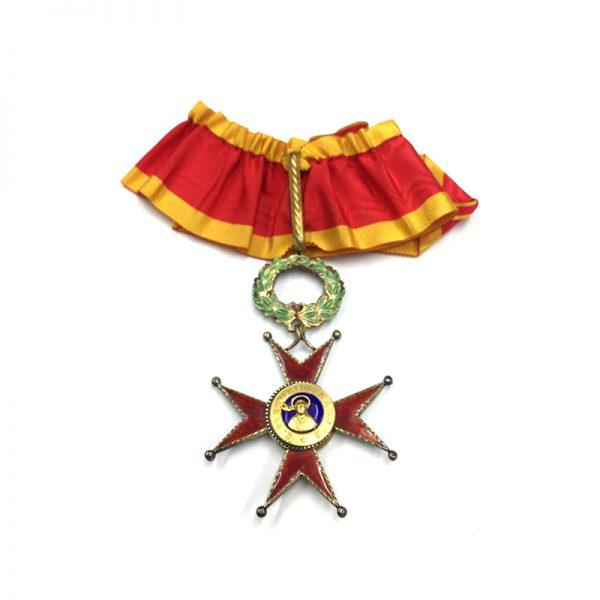 Order of  St. Gregory Commander neck badge 1