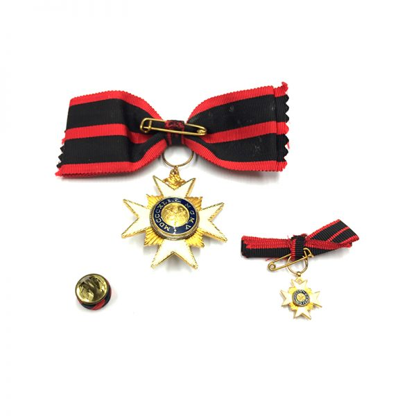 Order of  St. Sylvester Knight  bow ribbon 2