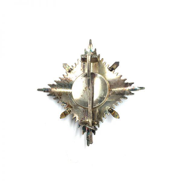 Order of Orange Nassau Grand Officer  Breast Star  with Swords 2